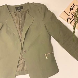 Olive Green Fitted Blazer